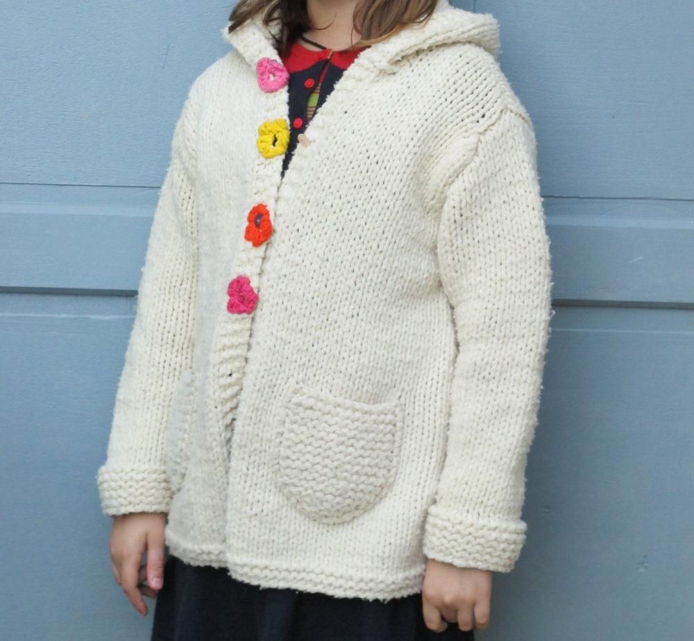 Veste en laine mérinos française Bellelaine