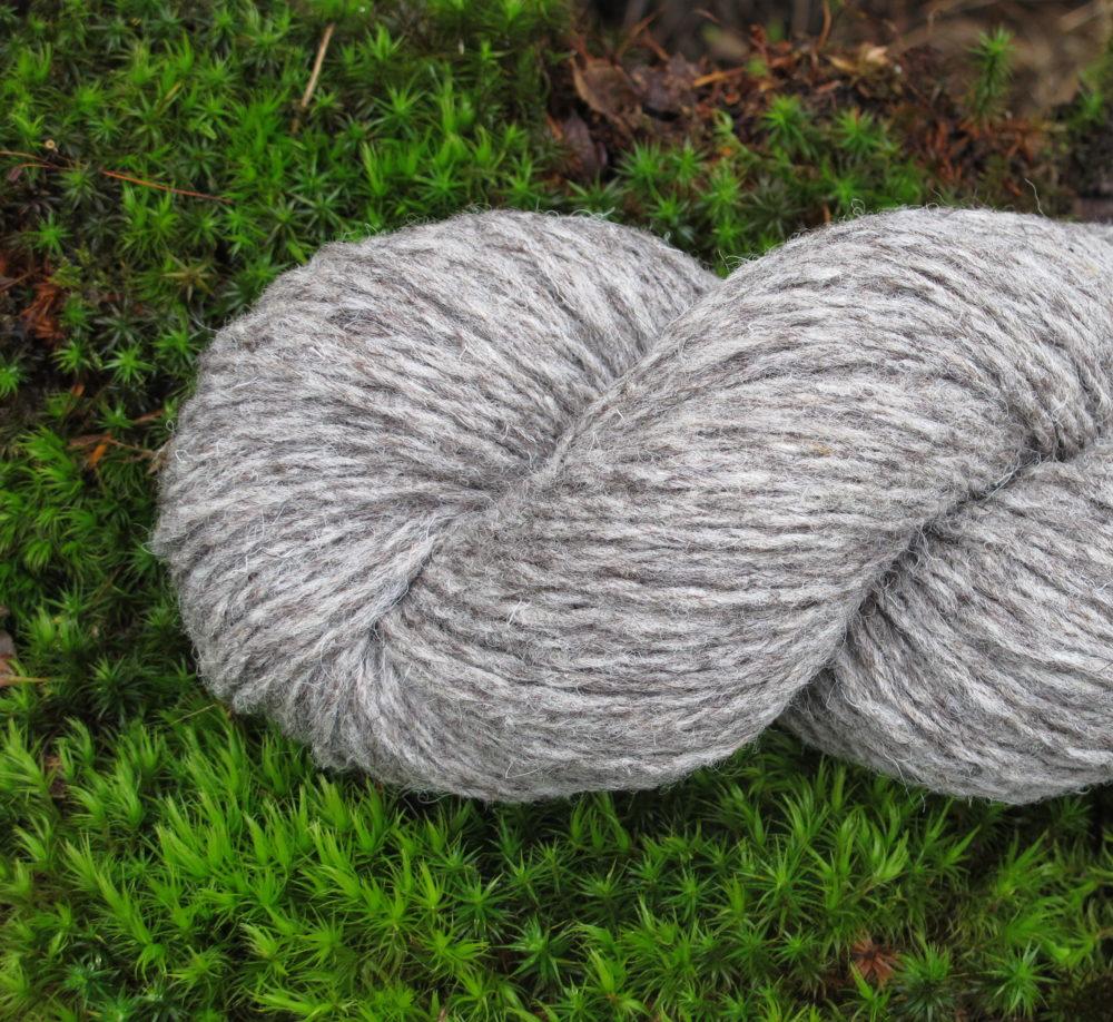 Pure laine naturelle grise bellelaine aig 5,5
