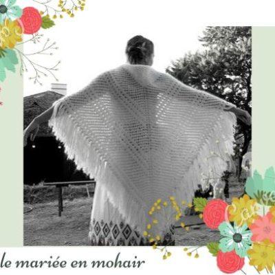 Réalisation d'un châle de mariée en mohair